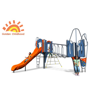 HPL Play Slide Structure Outdoor Playground For Kids