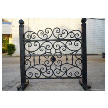 Artificial easy install wrought Steel Fence design