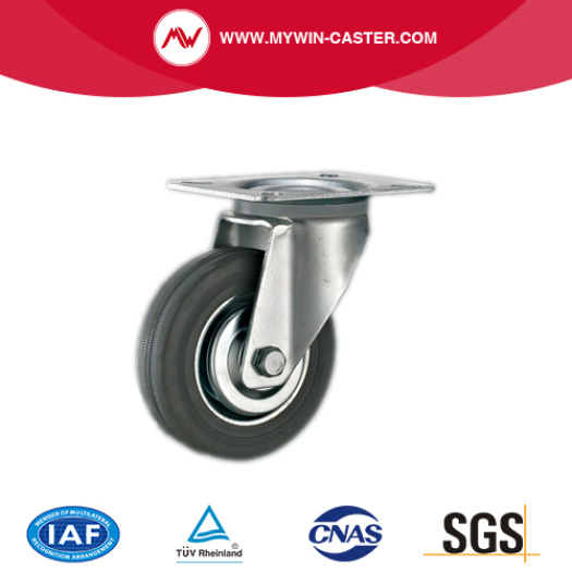 Bolt Hole Swivel Metal Core Industrial Rubber Wheels