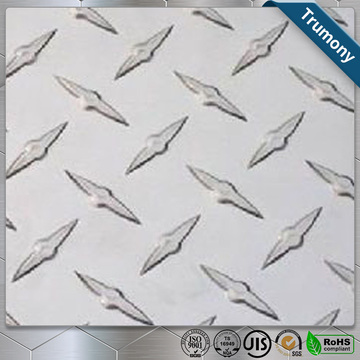 High Bar Embossed Non-slip aluminum plate
