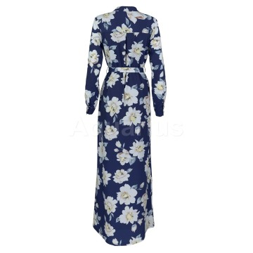 Blue Stylish and elegant printed dress