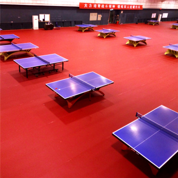 Table Tennis PVC Sports Flooring ITTF Certification