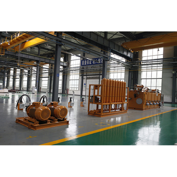 Hydraulic system of static pressure moulding line