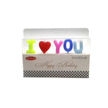 I Love You Birthday Decorative Cake Candle