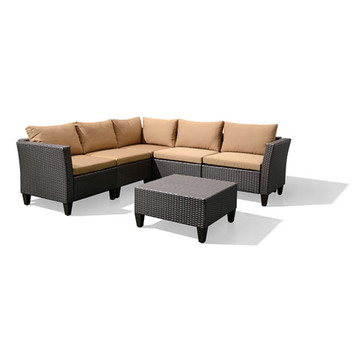 Garden outdoor modern Garden Patio rattan furniture set
