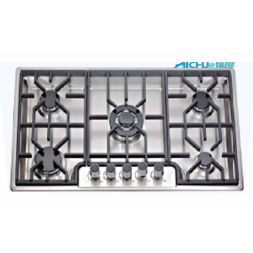 Built-in 5 Burners Natural Gas Stove