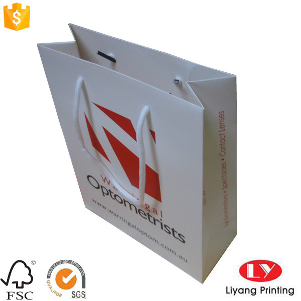 Hot Customized White Paper Packaging Bag with Handle