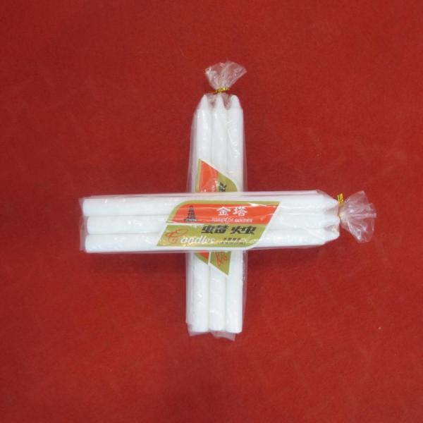 6Pcs Packing Polybag White Bougies Candle