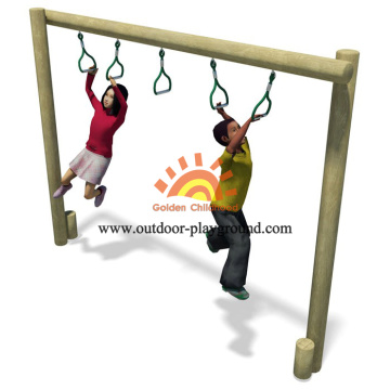 Outdoor Trapeze Walk Balancing Structure For Kids