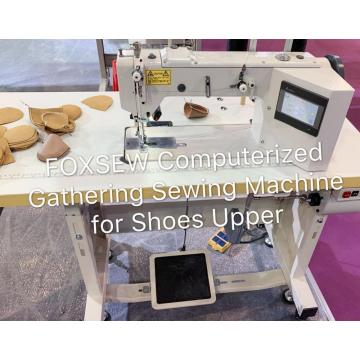 Computerized Gathering Sewing Machine for Shoes Upper