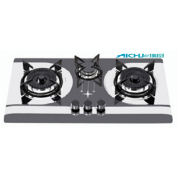 3 Burners Built In Steel Cooktop