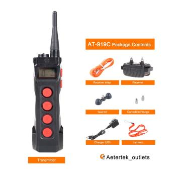 Aetertek AT-919C remote dog shock collar transmitter