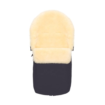 Baby sheepskin sleeping bag footmuff