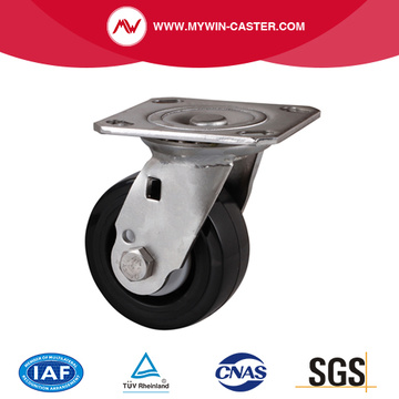 Stainless 4 Inch Plate Swivel Plastic Caster