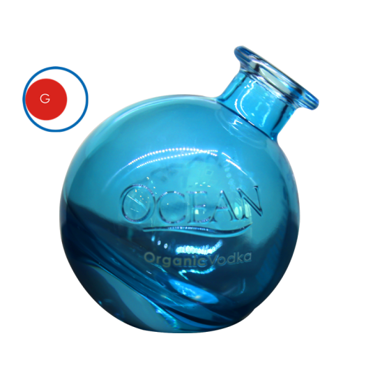 Round Ocean Glass Vodka Bottle
