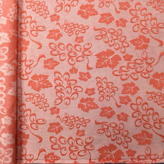 Orange Silk Print Upholstery Jacquard Fabric
