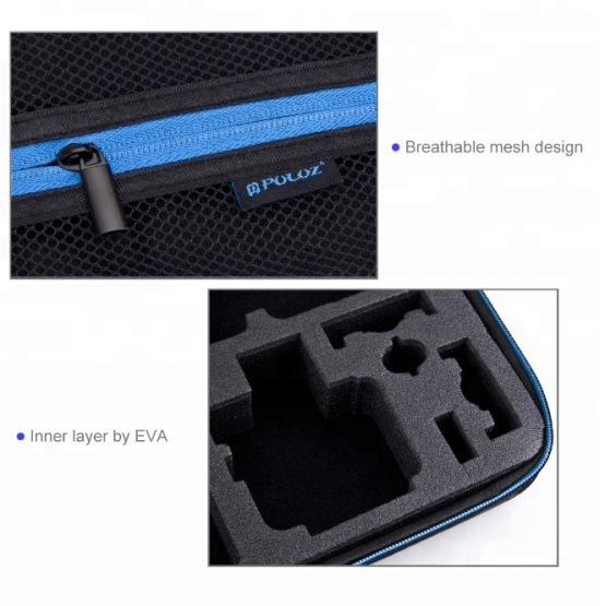 Handheld Clamshell Hard EVA Camera Case Black Carrying Box for Gopro Accessories