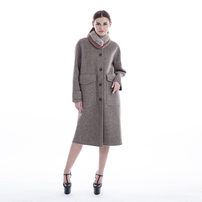 New styles single-breasted cashmere overcoat