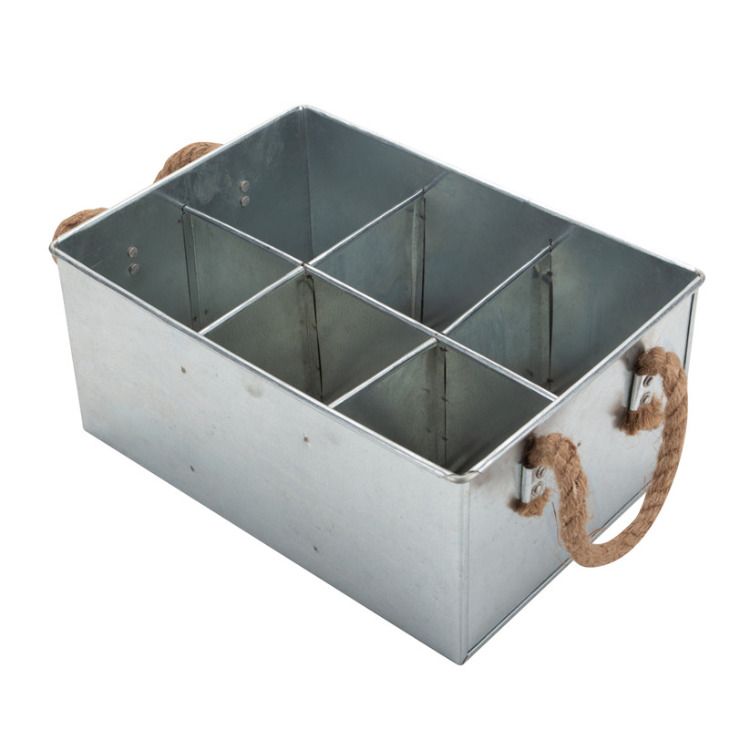 Galvanized Tool Box With Rope