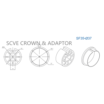 Accessories Crown and Adaptor SF35Series