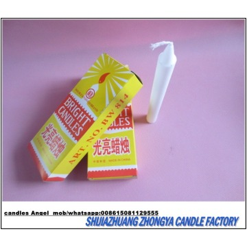 white household plain candles export