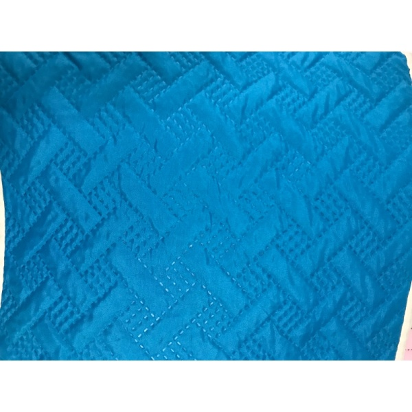 Blue Color Ultrasonic Microfiber Fabrics