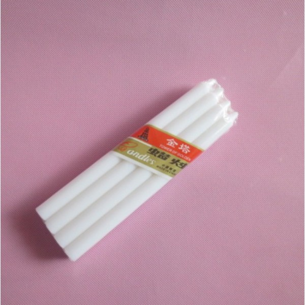Pure white wax taper stick candle velas bougies