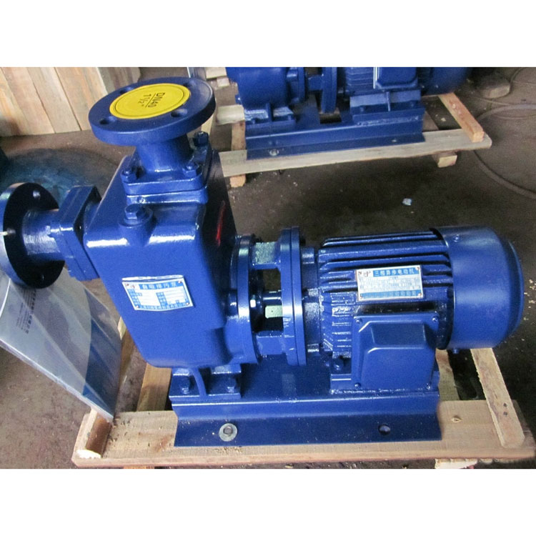 ZWL type direct-coupled self-priming non-blocking sewage pump 3