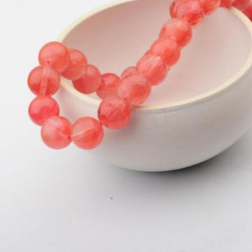14MM Loose natural Gemstone Cherry Quartz Round Beads for Making jewelry