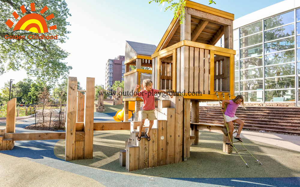 climbing playground natural tower for kids