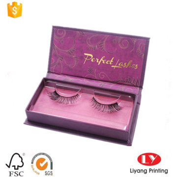 custom cosmetic eyelash paper packaging box