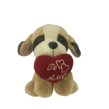 Plush Little Brown Dog With Love