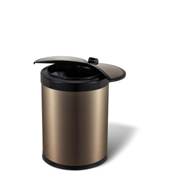 High End Airport Stainless Steel Sensor Trash Can Waste Bin