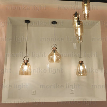Modern Nordic glass diamond pendant lights