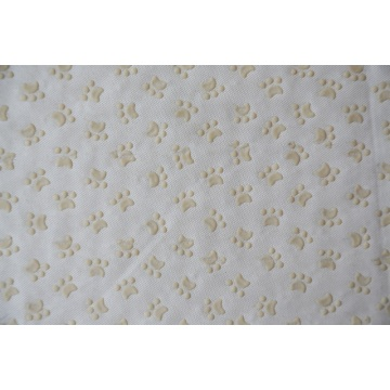 100% Polyester Plastic Dots Dog Footprints Fabric