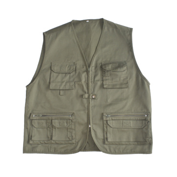 fashion multi pocket work vest for wholesale