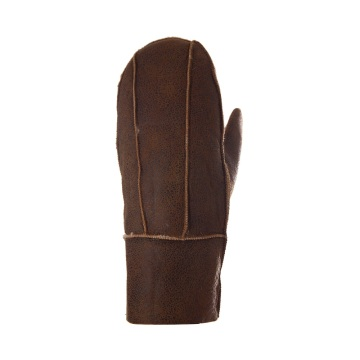 Fashion Brown Sheepskin Gloves
