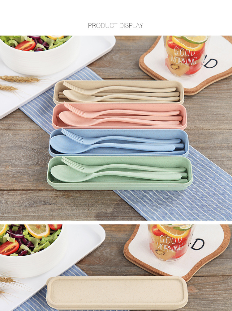Wheat Straw Flatware Set