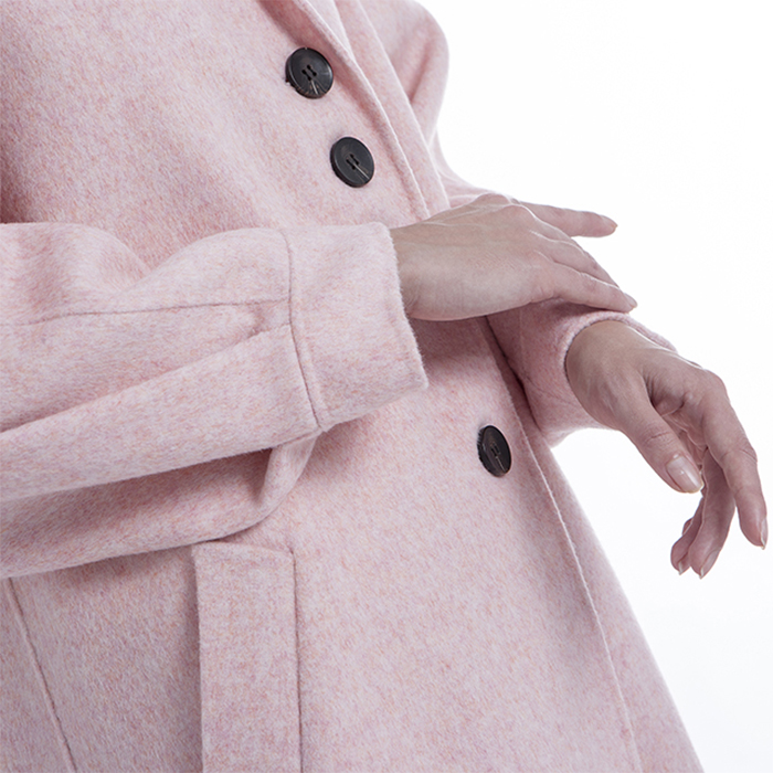 New styles pink cashmere winter coat