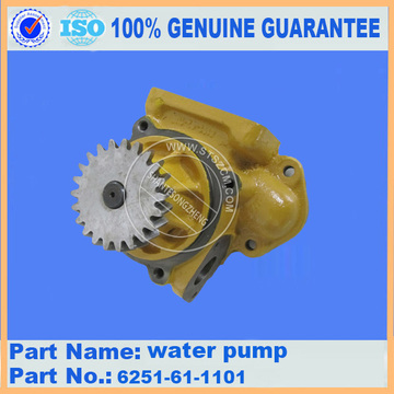 Komatsu water pump 6251-61-1101 for PC450-8