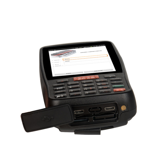 Industrial warehouse barcode reader with cradle