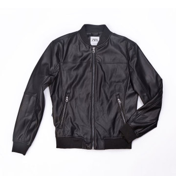 Men`s PU biker jacket