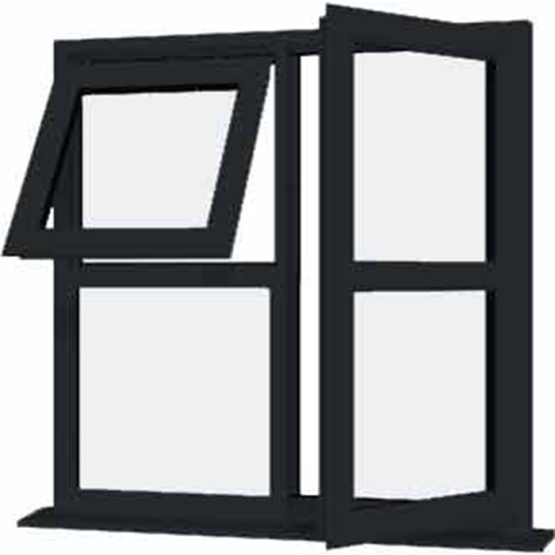 Colored uPVC Profiles for Gray uPVC windows