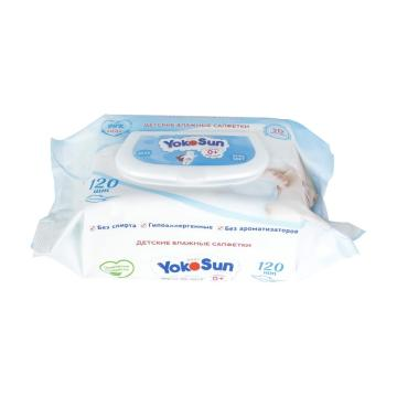 Biodegradable Wipes Made of 100% Cotton for Babies