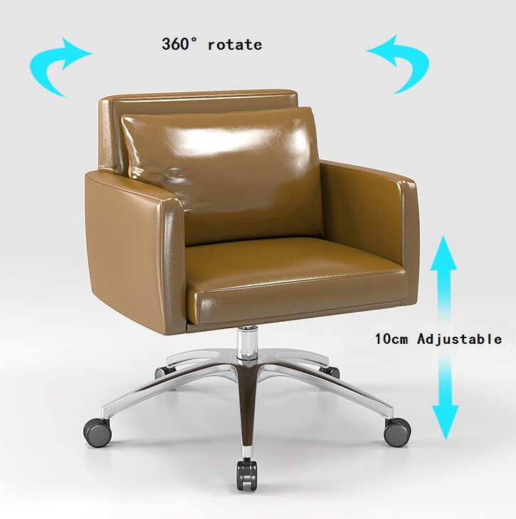Function Of Low Back Pu Leather Rotating Leisure Armchair