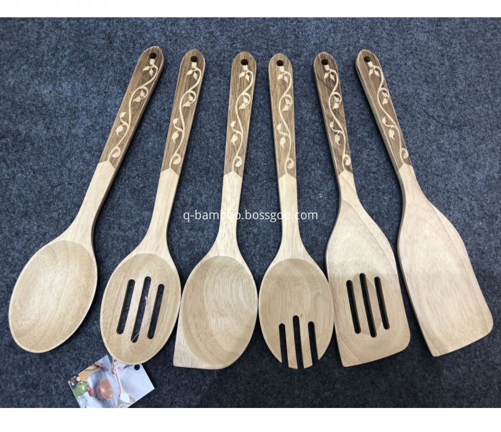 Rubber Wood Kitchen Utensil