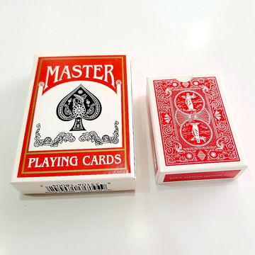 Linen finish advertising magic memory playing card