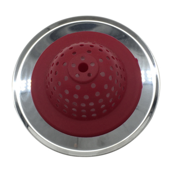 Good Grips Silicone Sink Strainer red
