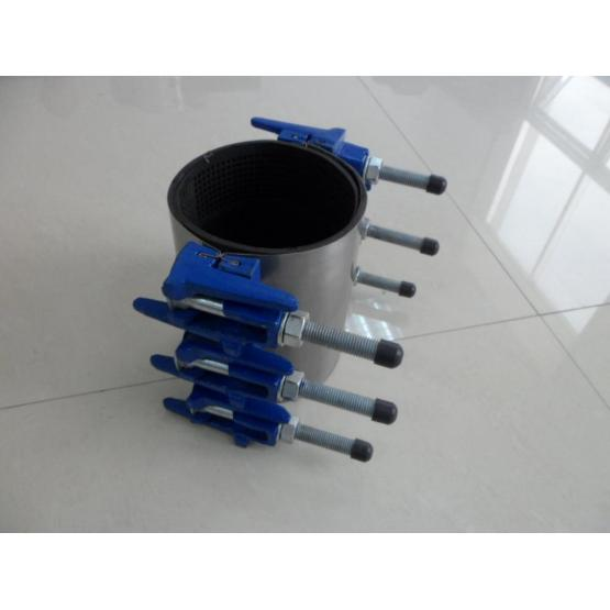 Stainless steel/ductile iron doubule band repair clamp
