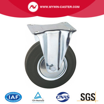 Plate Fixed Rubber Industrial Caster
